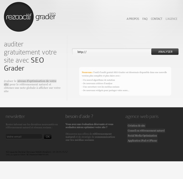 Audit referencement gratuit