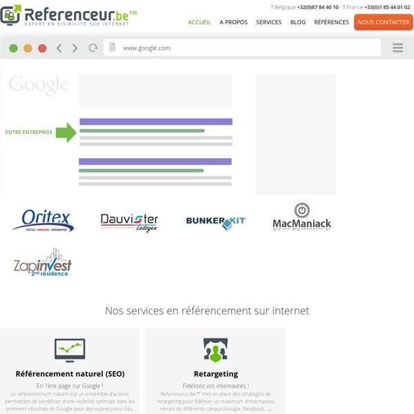 Referenceur.be agence de référencement internet SEO SEA