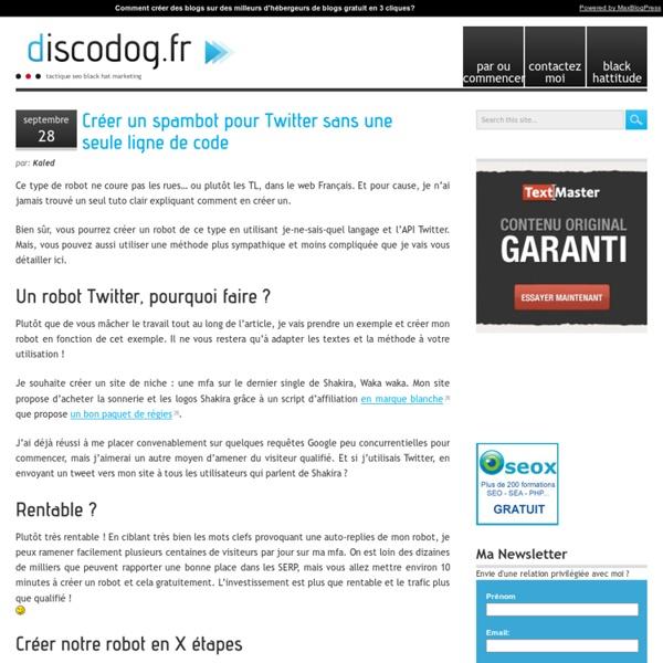 Créer un spambot pour Twitter sans une seule ligne de code