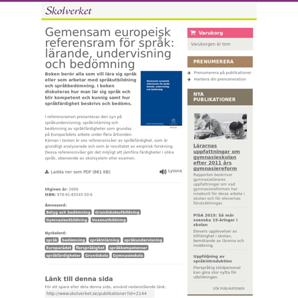 Gemensam europeisk referensram för språk
