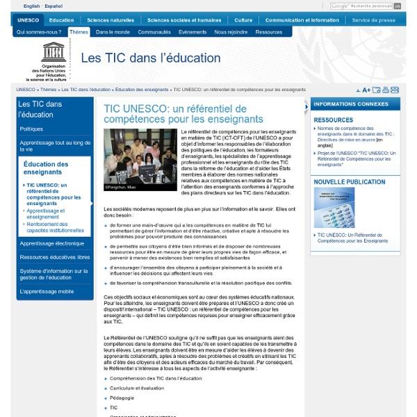 TIC UNESCO: un référentiel de compétences pour les enseignants