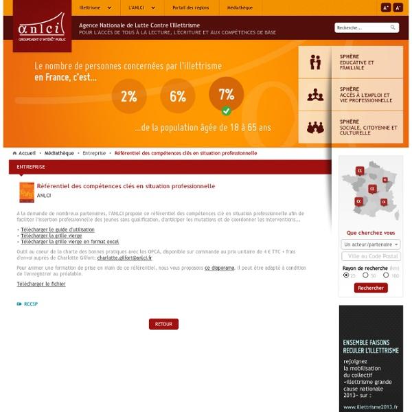 Référentiel des compétences clés en situation professionnelle / Médiathèque