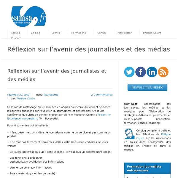 Réflexion sur l'avenir des journalistes et des médias