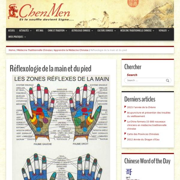 Réflexologie de la main et du pied