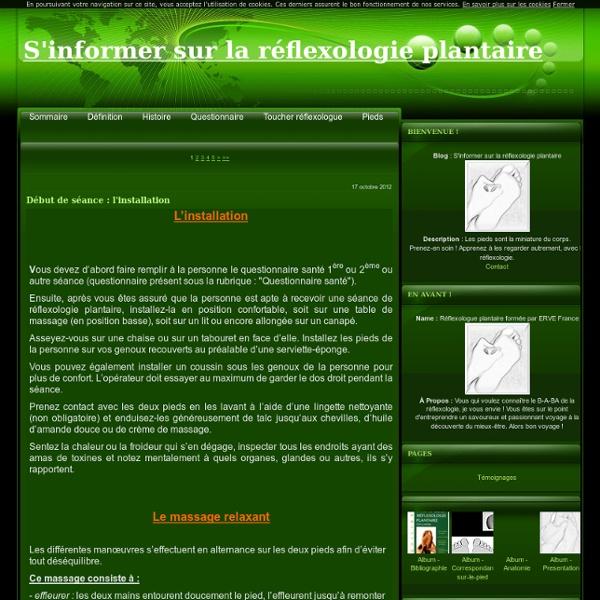Schemas de reflexologie plantaire de a a z - S'informer sur la réflexologie plantaire