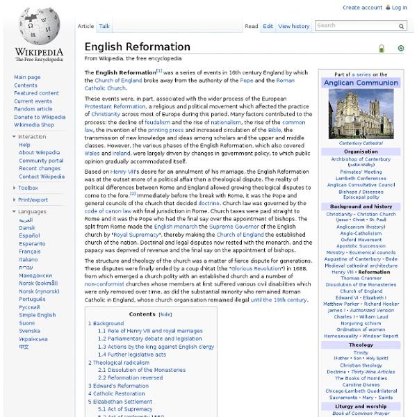 English Reformation (Diigo)