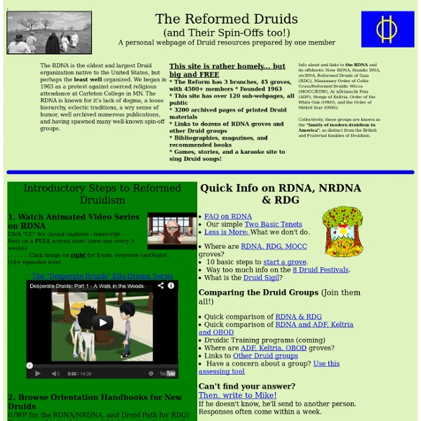 Reformed Druids of North America Homepage