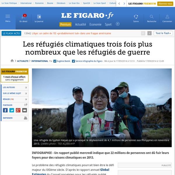 Les réfugiés climatiques trois fois plus nombreux que les réfugiés de guerre