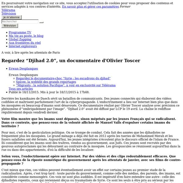 """Regardez """"Djihad 2.0"""", un documentaire d'Olivier Toscer"""