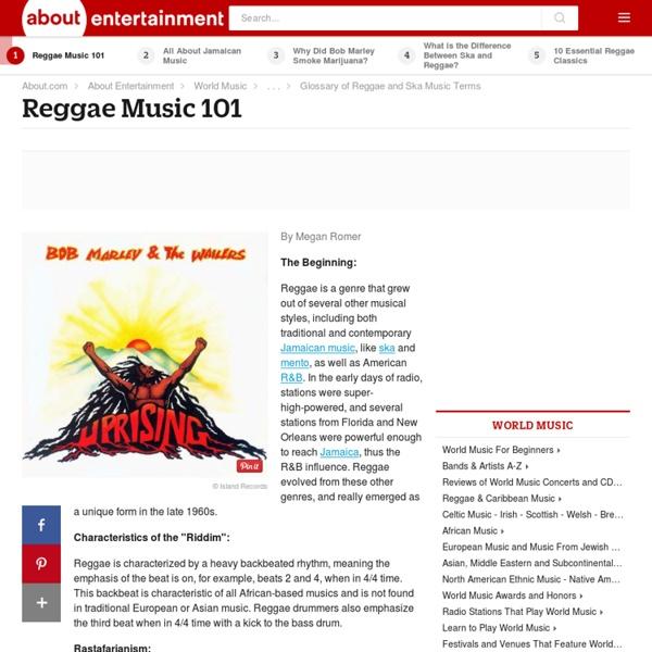 Reggae Music 101 - A Quick History