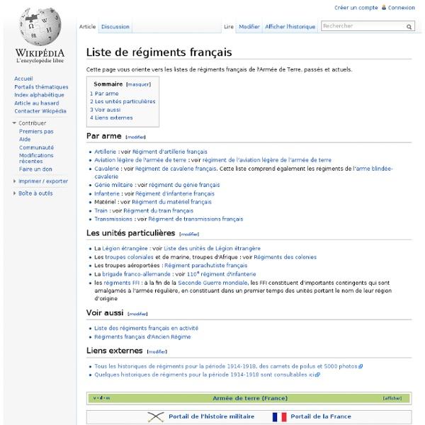 Liste des régiments français