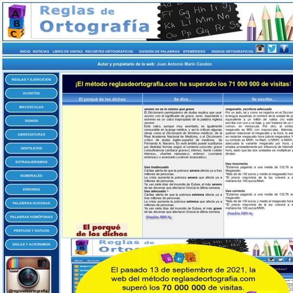 Reglas Ortográficas, tests de velocidad y comprensión lectora