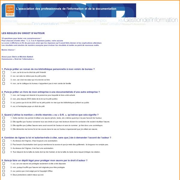 Règle du droit d'auteur