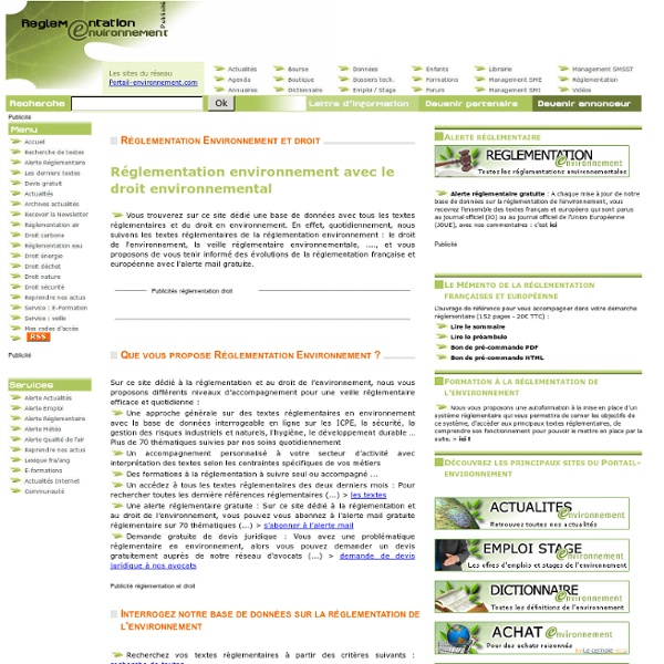 Réglementation environnement