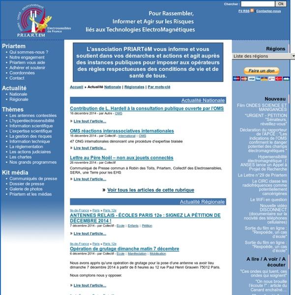 PRIARTEM - Pour une réglementation des antennes relais de téléphonie mobile