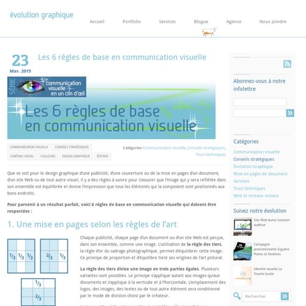 Les 6 règles de base en communication visuelle