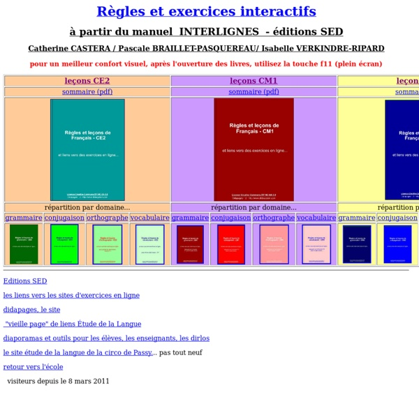 Règles et exercices interactifs - Cycle 3