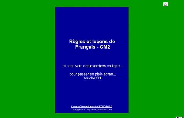 Règles et leçons de Français - CM2