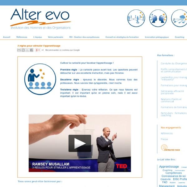 3 règles pour stimuler l'apprentissage - Alter-Evo.com