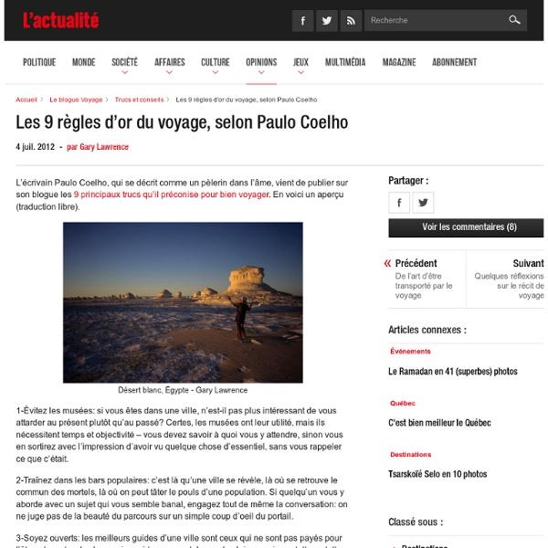Les 9 règles d'or du voyage, selon Paulo Coelho