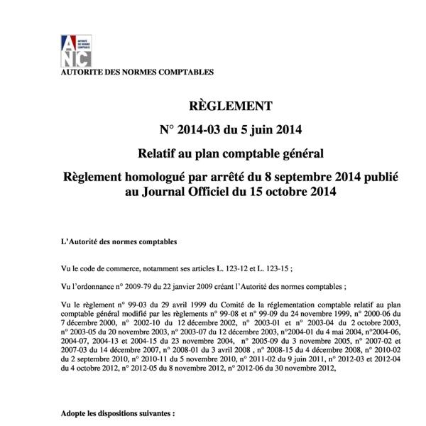 Reglt 2014-03_Plan comptable general