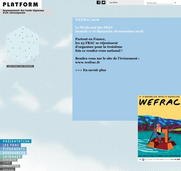 Platform - Regroupement des Fonds régionaux d'art contemporain