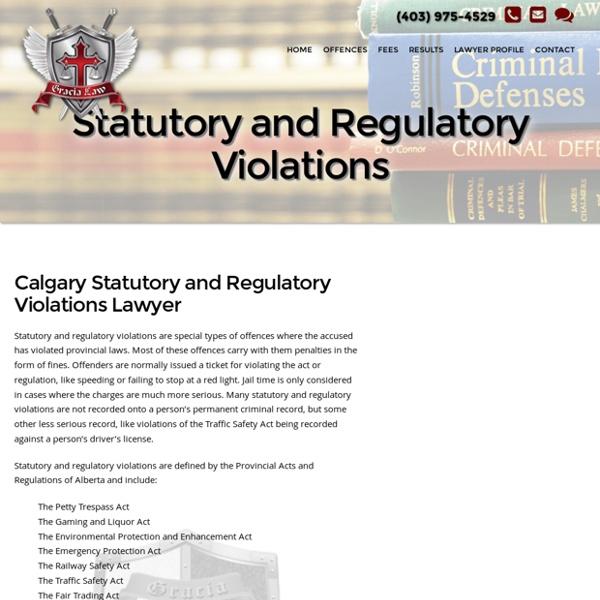 Statutory and Regulatory Violations