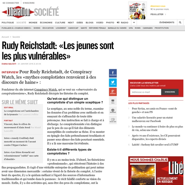 #théorieducomplot Rudy Reichstadt : «Les jeunes sont les plus vulnérables»