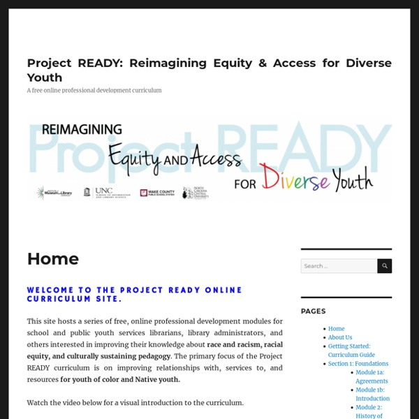 Project READY: Reimagining Equity & Access for Diverse Youth – A free online professional development curriculum