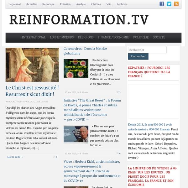 Reinformation.tv - Informez-vous ! Réinformez-vous !