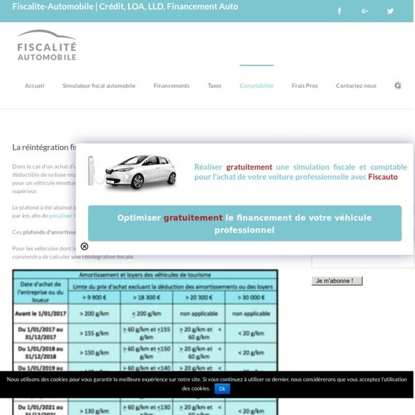 La réintégration fiscale pour l'achat d'un véhicule de tourisme
