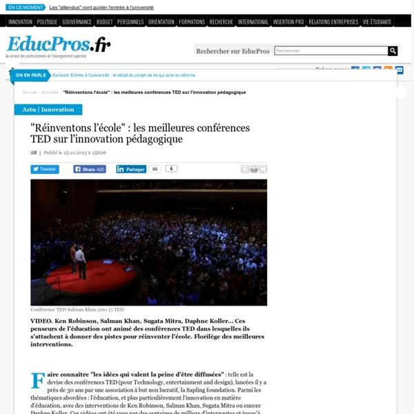 """""""Réinventons l'école"""" : les meilleures conférences TED sur l'innovation pédagogique"""