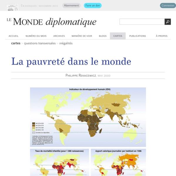 La pauvreté dans le monde, par Philippe Rekacewicz (Le Monde diplomatique, mai 2000)