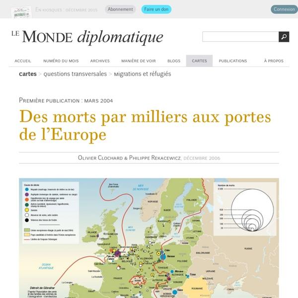 Des morts par milliers aux portes de l'Europe, par Olivier Clochard et Philippe Rekacewicz