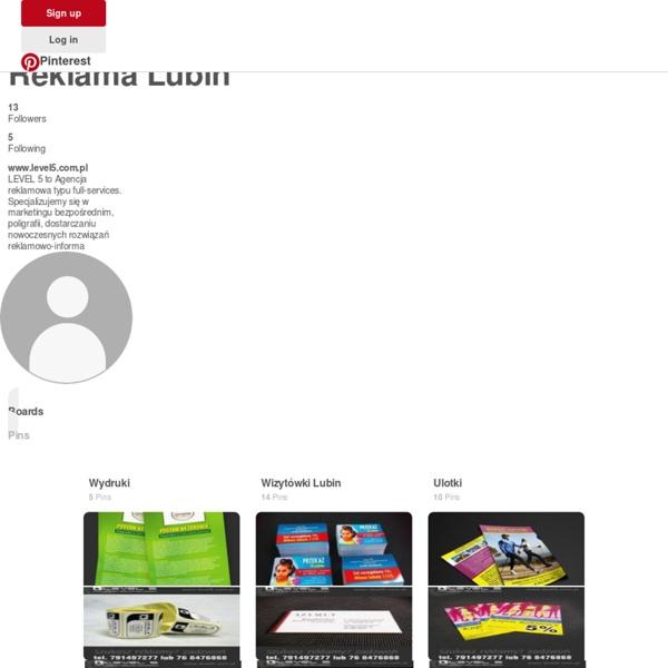Reklama Lubin (reklamalubin) na Pintereście