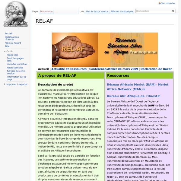 REL-AF - WikiEducator