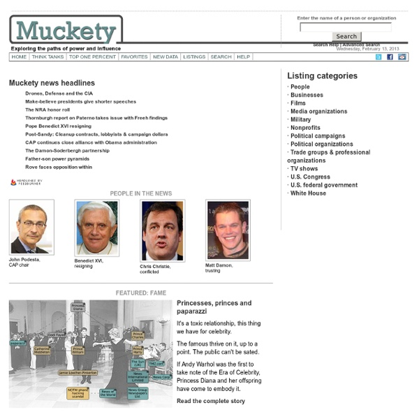 Muckety - Mapping relations and measuring influence