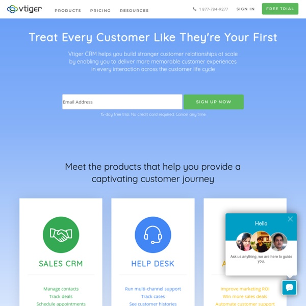 CRM Software for Sales, Support and Marketing