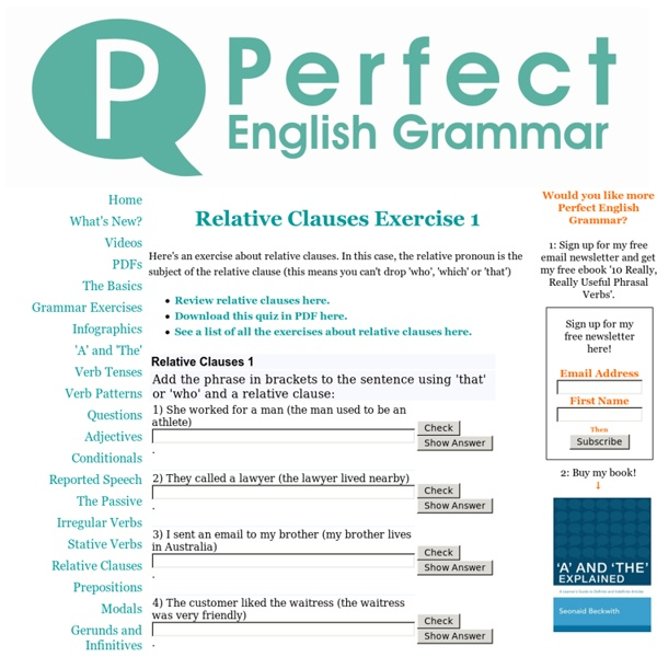Relative Clauses Exercise 1