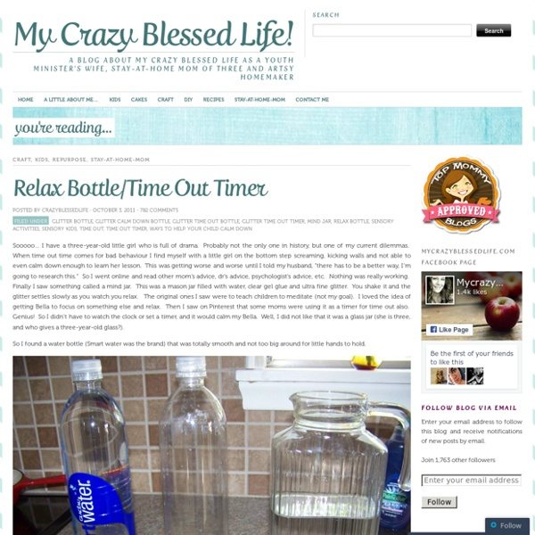 Relax Bottle/Time Out Timer « My Crazy Blessed Life!