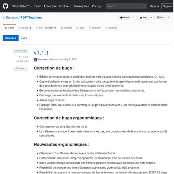 Releases · themsou/PDF4Teachers