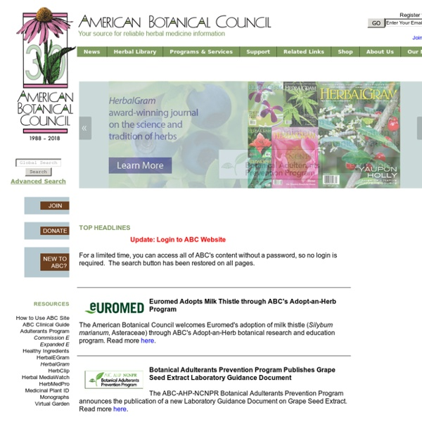 Reliable Herbal Medicine Information - American Botanical Council