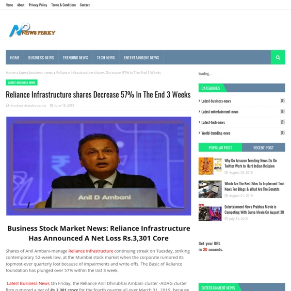 Reliance Infrastructure shares Decrease 57% In The End 3 Weeks