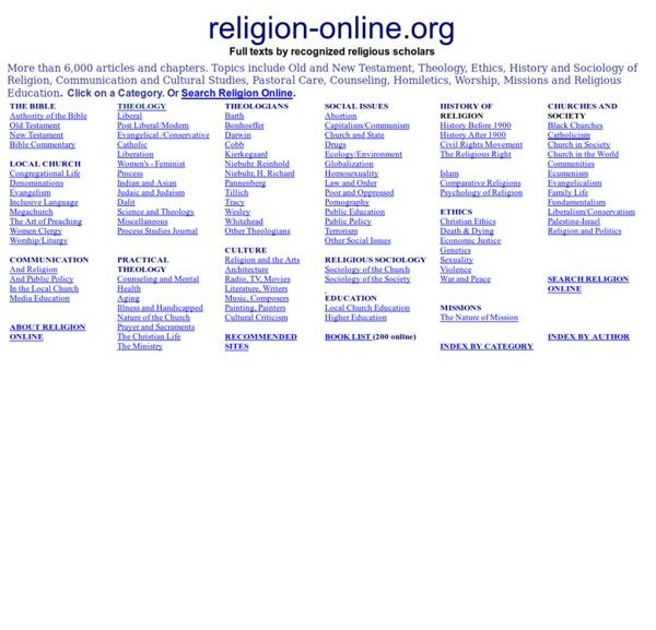 Religion online