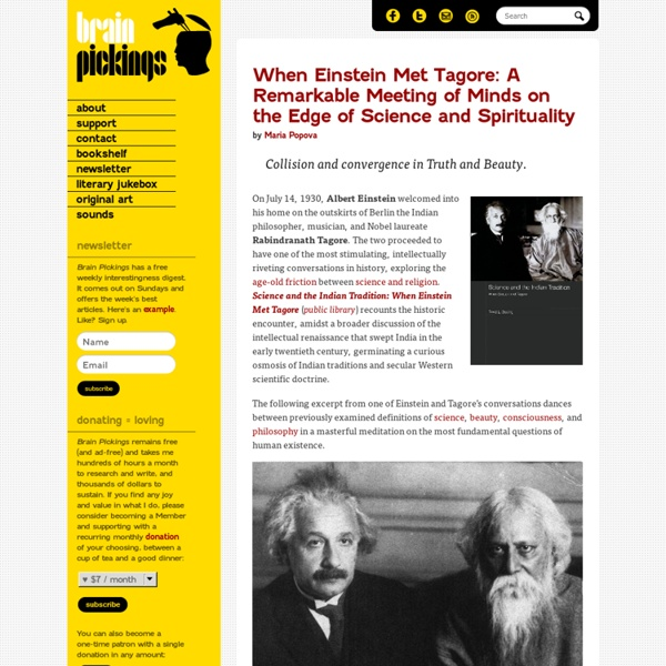When Einstein Met Tagore