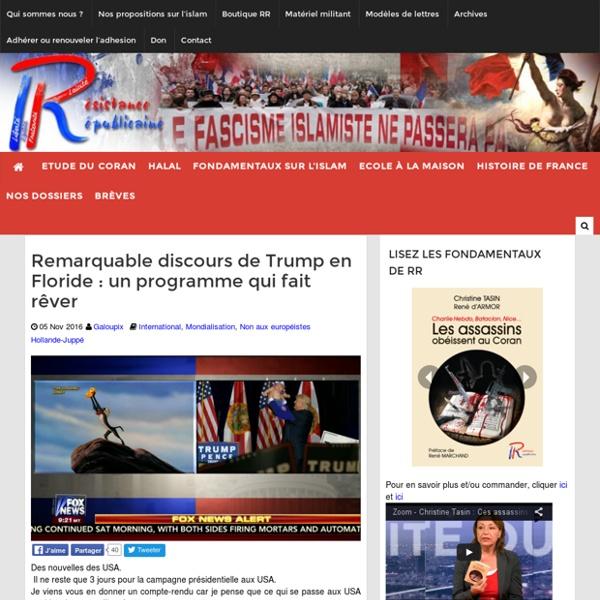 Remarquable discours de Trump en Floride : un programme qui fait rêver