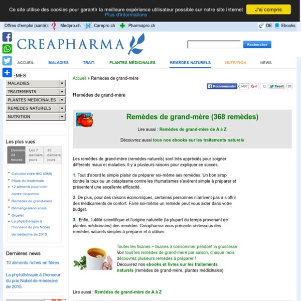 Remèdes de grand-mère, recette de grand-mère, remèdes maison, traitements naturels