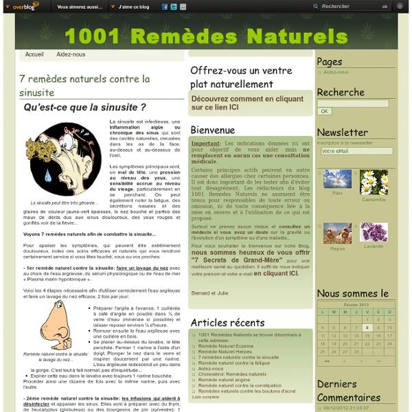 7 remèdes naturels contre la sinusite - 1001-remedes-naturels