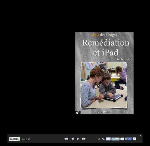 MAG des Usages - Remédiation et iPad