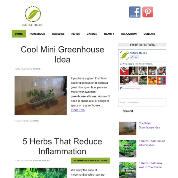Nature Hacks - Natural Remedies and Household Solutions —
